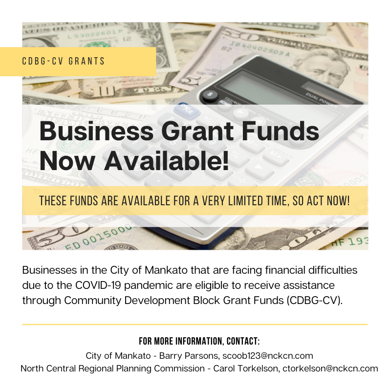 Business Grant Applications Available at City Hall